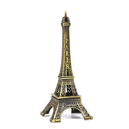 (Eiffel Tower Statue Metal Mini-Paris Eiffel Tower of Decorative Figurines Holder for Decoration of Brass Replica)