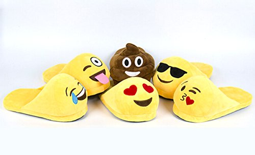 Yodensity Emoticons Slippers Men Women Indoor Home Floor Warm Winter Shoes 3.5-10.5 UK Kiss iWP3cBYza7