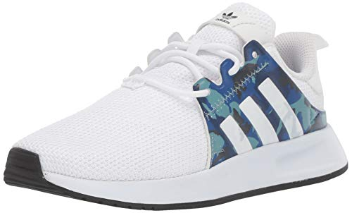 adidas Originals Unisex-Kid's X_PLR EL Running Shoe, White/White/Black, 7 M US Big Kid