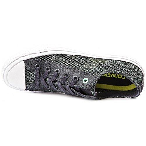 Converse Chuck II Open Knit Herren Sneakers Sharkskin/Green Glow 44