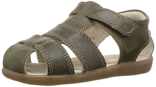 See Kai Run Boys' Jude III Fisherman Sandal, Olive, 8 M US Toddler