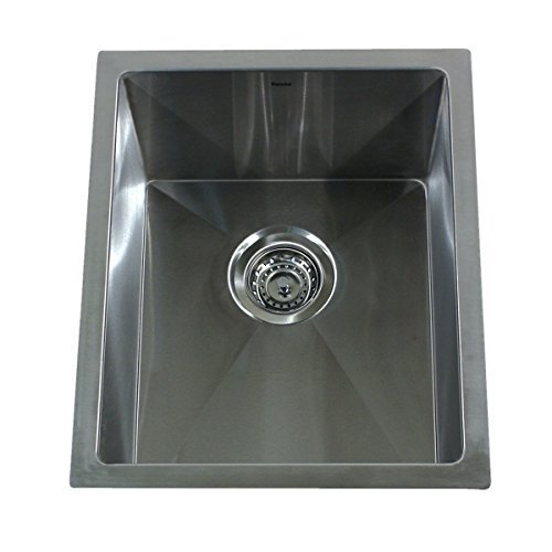 Nantucket Sinks SR1815 15-Inch Pro Series Rectangle Undermount Small Radius Stainless Steel Bar/Prep Sink - Grid Sold Separately by Nantucket Sinks by Nantucket Sinks