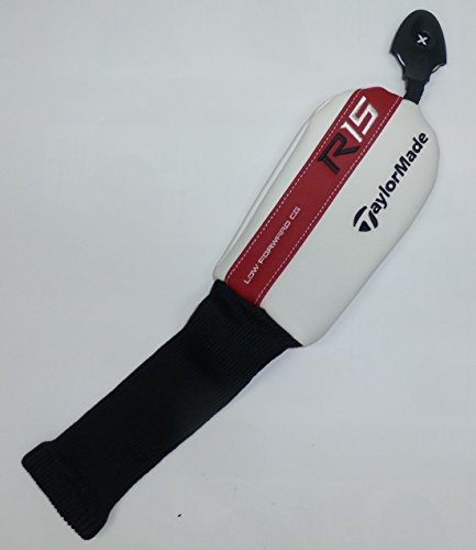 TAYLOR MADE PRODUCTS New Taylormade R15 White/Red/Black Leather Hybrid/Rescue Headcover (Golf R15 Clubs)