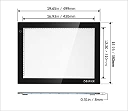 Dbmier A3 LED Ultra-Thin Tracing Light Pad Adjustable Light Box - 12.20\