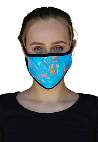 Made in USA: Face Coverings, Washable, Reusable – Protection from Dust, Pollen, Pet Dander, Other Large Airborne Particles.