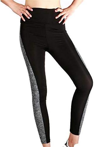 レディースジャージ上下セット 女性アスレチックジムトレーニングフィットネスヨガレギンスパンツスポーツズボン (色 : ブラック)