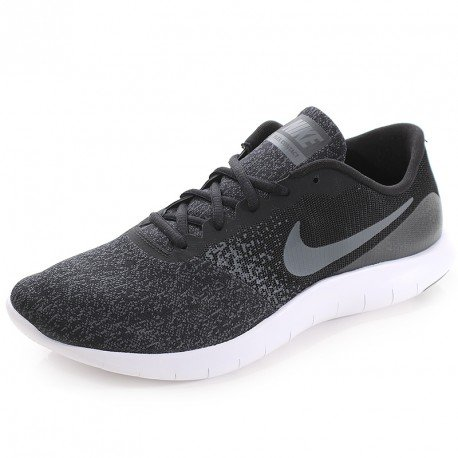 Nike Flex Contact Mens Running Shoes Lace-up (12, Black/Dark Grey/Anthracite)