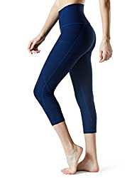 "Tesla Tm-fyc34-nvy_2x-large Yoga 21"" Capri High-waist Pants W Side Pockets Fyc34"