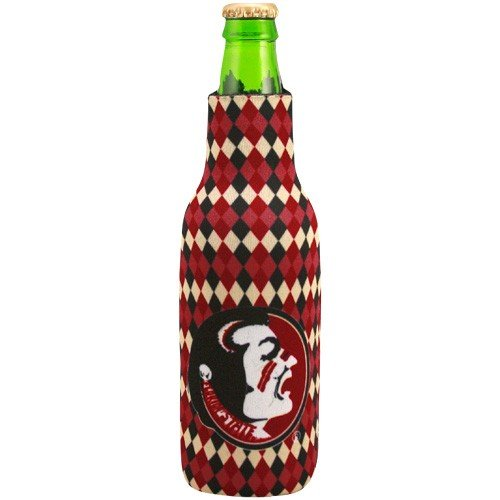 NCAA Florida State Seminoles (FSU) Argyle 12oz. Bottle Koozie