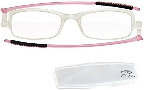老眼鏡 携帯 折りたたみ おしゃれ コンパクトグラス ケース付き Flat glass
