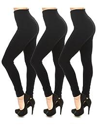 Leggings Mania Fleece Lined Thick High Waisted Slimming Band Leggings