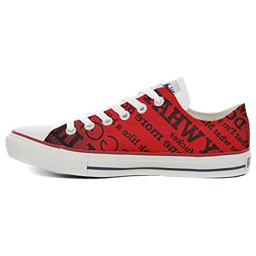 Schuhe Handwerk Low Customized Star personalisierte Schuhe All Converse Rebels P6ZqvwnOXx