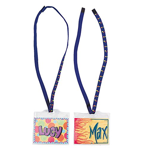 Fun Express - DIY Super Safe Name Tags- 48 pc - Craft Kits - DYO - Paper - Stationery - 48 Pieces]()
