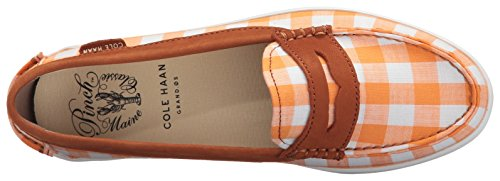Cole Haan Mujeres Pinch Weeknder-prep Prints Orange Gingham / Acorn Nubuck