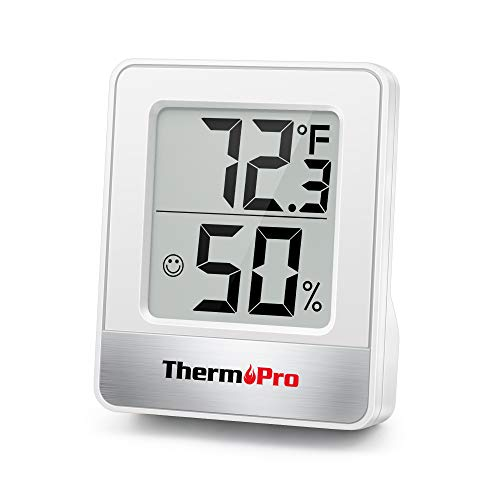 ThermoPro TP49-W Mini Hygrometer Thermometer with Large Digital View Indoor Thermometer Humidity Gauge Monitor for…