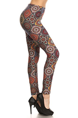 Leggings Depot Ultra Soft REGULAR and PLUS Popular Best Printed Fashion Leggings Batch5 (Regular (Size 0-12), Curiously Creative) (Halloween Leggings)
