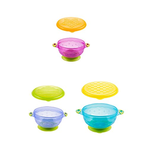 Baby Sucker Bowl Baby Suction Feeding Bowls Set of 3 (s:4.3