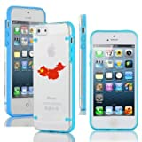 Apple iPhone 4 4s Ultra Thin Transparent Clear Hard TPU Case Cover China Chinese Flag (Light Blue)