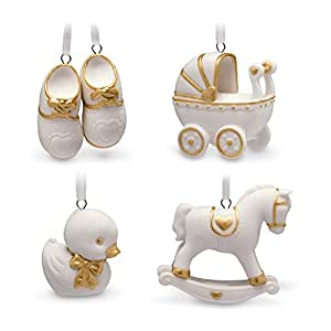 Hallmark Keepsake Mini Christmas Ornament 2018 Year Dated Baby Set