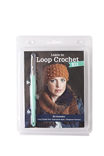 Learn to Loop Crochet Kit | Create Knit Stitches with One Tool - Includes Step by Step Instructions and 4 Beginner Patterns | For Crocheters and Beginners