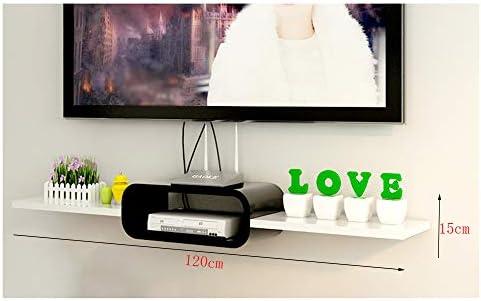 DERTL - Mueble pequeño Flotante para TV, Oficina, Dormitorio, Set de TV, Soporte de Pared Trasero, Plan de decoración de Pared, enrutador de salón, Vitrina Punch, Madera, Blanco, 120 * 15cm: Amazon.es: Hogar