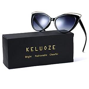 KELUOZE Womens Polarized Sunglasses Cat Eye Sunglasses Aviator Wayfarer Sunglasses