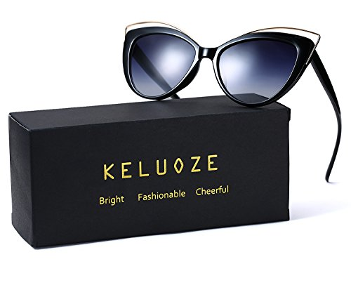 KELUOZE Womens Polarized Sunglasses Cat Eye Sunglasses Aviator Wayfarer - Questions Sunglasses