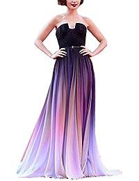 Womens Gradient Chiffon Formal Evening Dresses Elie SABB Long Prom Gown
