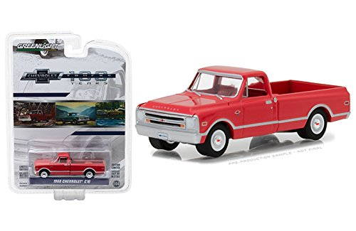 "NEW 1:64 GREENLIGHT ANNIVERSARY SERIES 6 COLLECTION - 1968 Chevrolet C-10 Red ""100th Anniversary of Chevy Trucks"" Diecast Model Car By Greenlight"