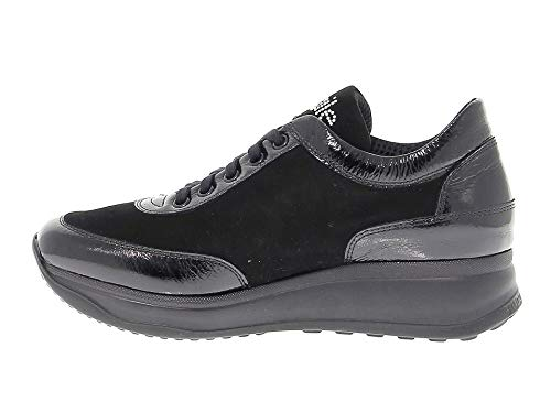 Sneakers Line Ruco1304n pelle scamosciata Donna nere Ruco in tRwBw4