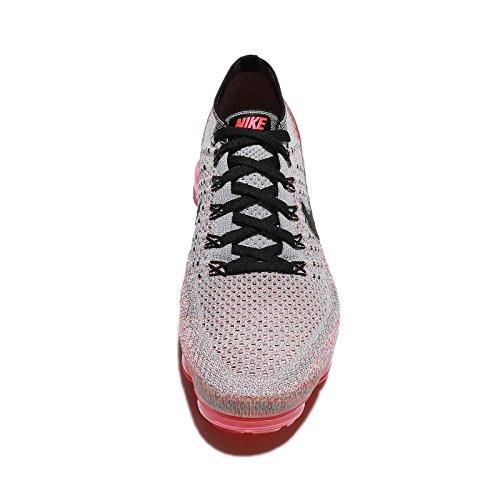 Nike Kvinnor Wmns Luft Vapormax Flyknit, Wolf Grå / Svart-ljus Crimson Wolf Grå / Crimson