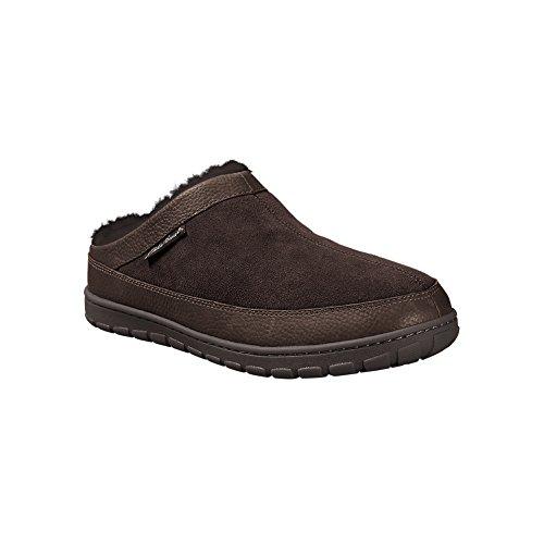 Pantofole Da Uomo Eddie Bauer Shearling Marrone Scuro (marrone)