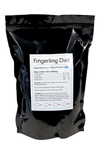 Tilapia Depot T.D. Fish Food Pellets - 5lb Fingerling Diet - Premium, High Growth Floating Food for Koi, Goldfish, and Fingerlings
