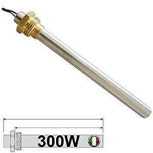 Easyricambi Candeletta accensione 3/8 300W 148mm Lunga Totale; 138mm a Battuta del Dado; Diametro 9,9 per stufe AMG… 41j6tNq94KL. SS300