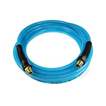 Coilhose Pneumatics PFE40254T Flexeel Reinforced Polyurethane Air Hose, 1/4-Inch ID, 25-Feet Length with (2) 1/4-Inch MPT Strain Relief Fittings