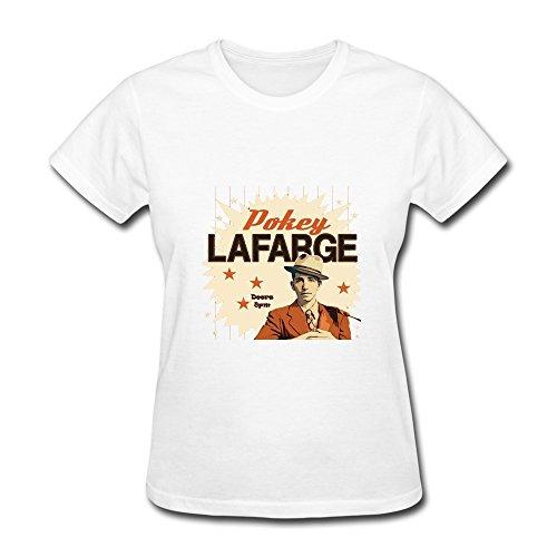 - HUBA Women's Tshirt Pokey Lafarge White Size XS