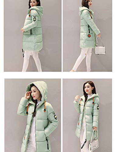 Slim Hooded Green Cotton Coat Quilted Jacket Long Outerwear Coat Light BESBOMIG Fabric Soft Fashion Women Winter xSqnpwtf