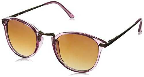 A.J. Morgan Castro Round Sunglasses Crystal Light Pink