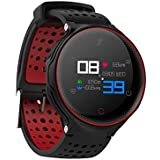OPTA SB-052 O-RUNNER Watch with Activity Monitor Compatible with all Smartphone (Black and Red)