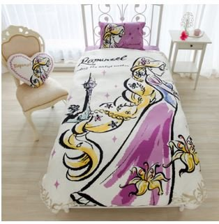 Disney Rapunzel duvet cover, sheets, pillow case three-piece set Japanese-style single by Disney