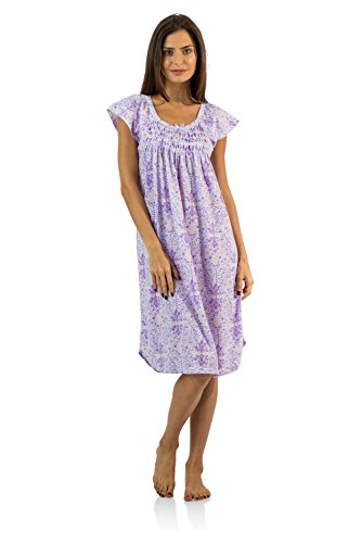 Casual Nights Womens Smocked Nightgown product image