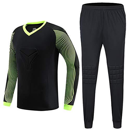 Shinestone Men's Goalkeeper Armor BodyShield Padded Jersey with Sponge Protector for Football Baseball,etc (Black, Small)