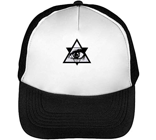 Illuminati Gorras Hombre Snapback Beisbol Negro Blanco