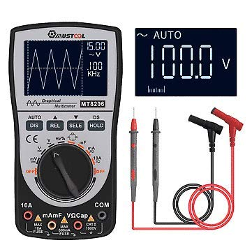 MT8206 2 in 1 Intelligent Digital Oscilloscope Multimeter AC/DC Current Voltage Resistance Frequency Diode Tester with Analog Bar Graph