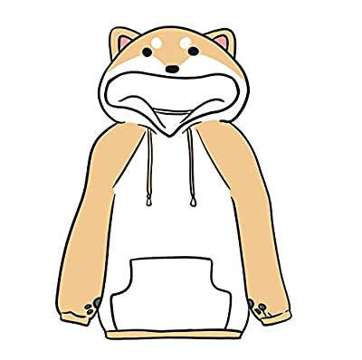 FANER Girls Cute Shiba Inu Hoodie Sweatshirt Pullover