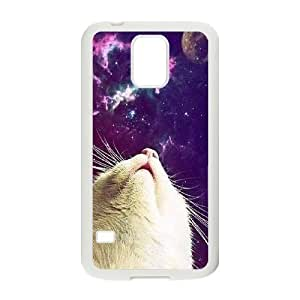 Galaxy Hipster Cat Customized Cover Case for SamSung Galaxy S5 I9600,custom phone case ygtg550120