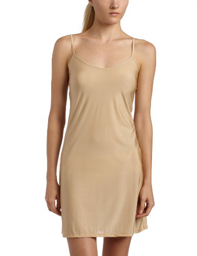 (Only Hearts Women's Second Skin Chemise 15-16 Inch - 3372Ss,Nude,X-Small/Small)