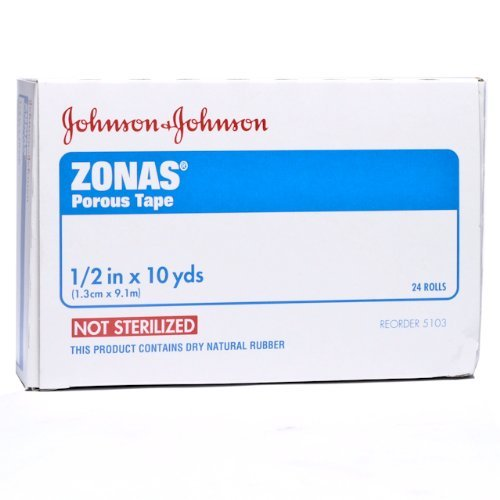 Trainer Zone (J & J Zonas Athletic Trainers Tape 1/2'' 24/bx by Zonas)