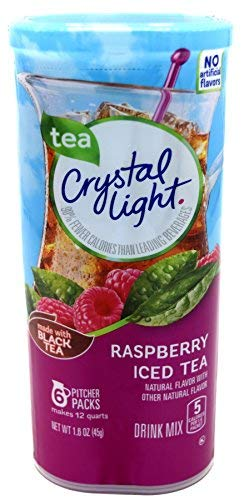Crystal Light Raspberry Iced Tea Drink Mix, 12-Quart Canister (Pack of 12)