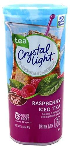 Crystal Light Raspberry Iced Tea, 12-Quart 1.6-Ounce Canister (Pack Of 2)